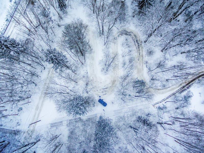 Χειμώνας σε Vilnius, Λιθουανία: Δρόμος Seprentine Tuputiskes στοκ φωτογραφία με δικαίωμα ελεύθερης χρήσης