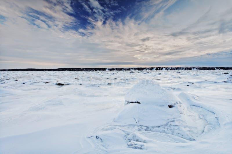 χειμώνας σκηνής τοπίων στοκ εικόνες
