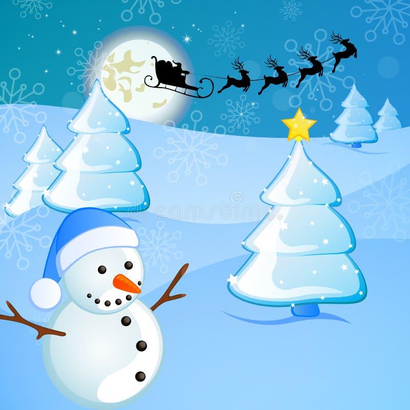 χειμώνας σκηνής Χριστου&gamma διανυσματική απεικόνιση