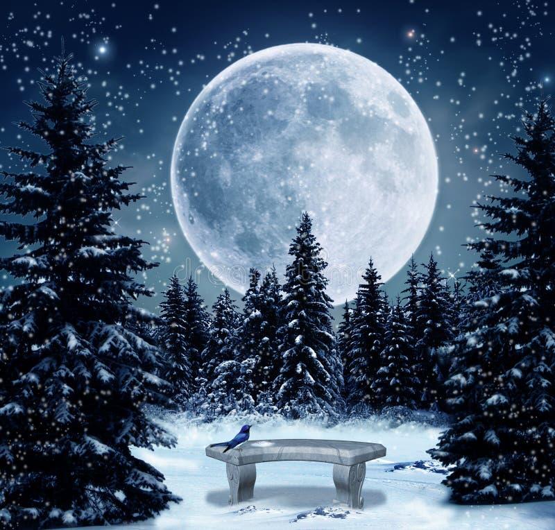 χειμώνας σκηνής ελεύθερη απεικόνιση δικαιώματος
