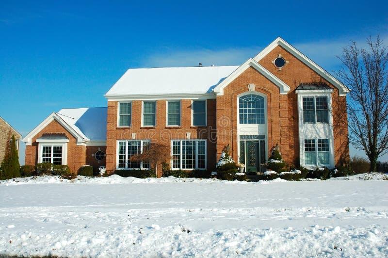 Download χειμώνας σπιτιών στοκ εικόνα. εικόνα από boxcar, θάμνοι - 394973
