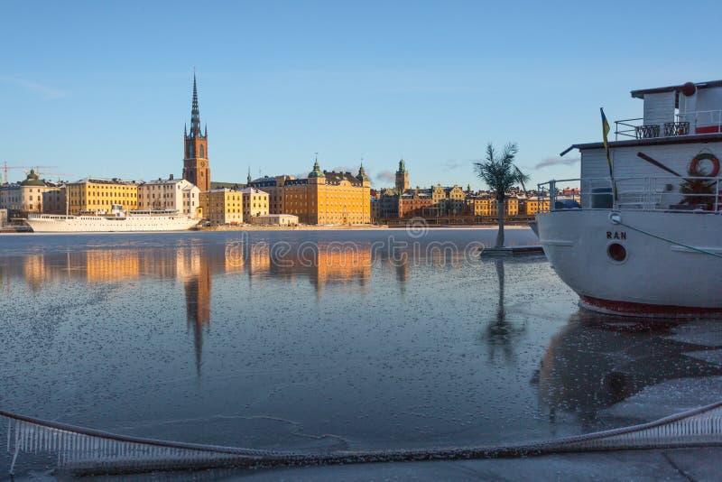 Χειμώνας στη Στοκχόλμη, Σουηδία, Ευρώπη στοκ φωτογραφίες με δικαίωμα ελεύθερης χρήσης