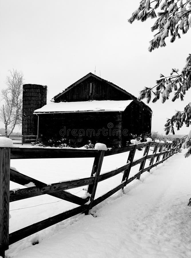 Χειμώνας στη χώρα στοκ εικόνα