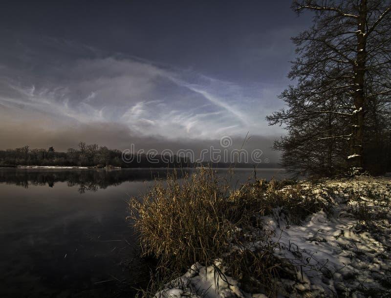 Χειμώνας στο opfingersee στοκ εικόνα