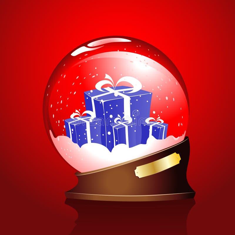 χειμώνας σφαιρών δώρων απεικόνιση αποθεμάτων
