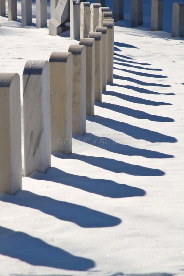 χειμώνας ταφοπετρών στοκ φωτογραφίες