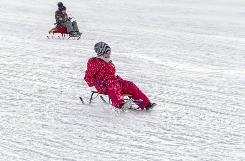 Χειμώνας Τα παιδιά στοκ εικόνα με δικαίωμα ελεύθερης χρήσης