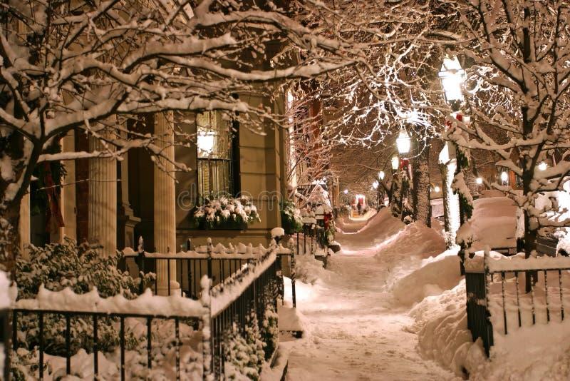 χειμώνας της Βοστώνης στοκ φωτογραφία