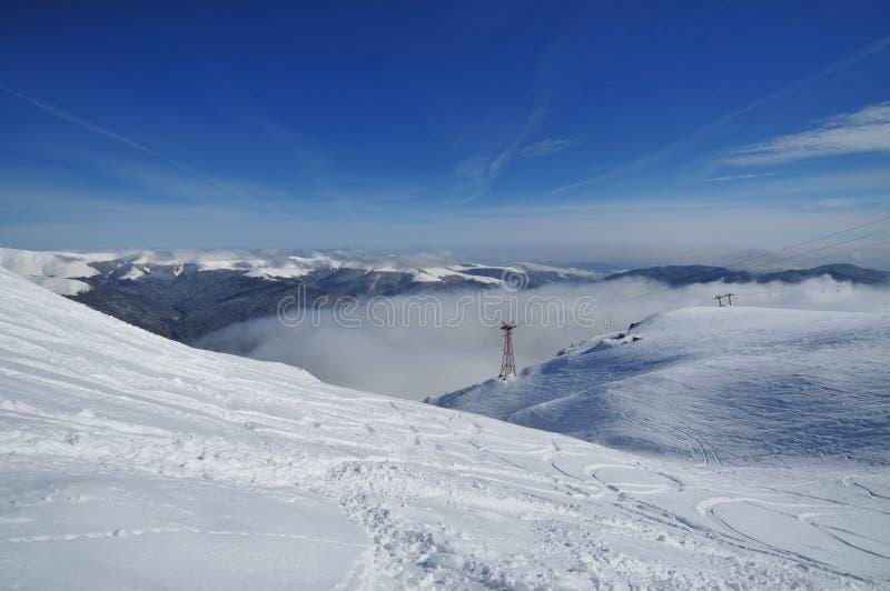 χειμώνας της Ρουμανίας β&omi στοκ φωτογραφία