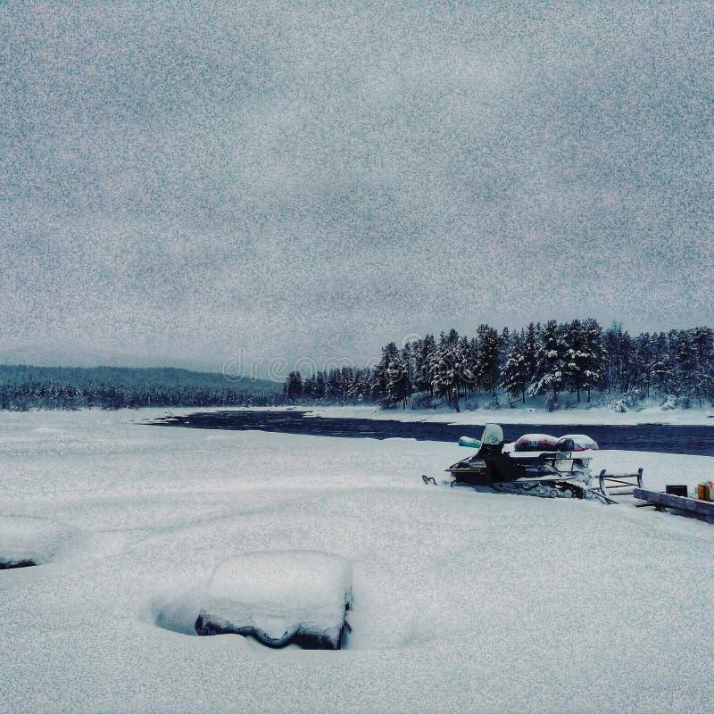 Χειμώνας της Σουηδίας στοκ φωτογραφίες με δικαίωμα ελεύθερης χρήσης