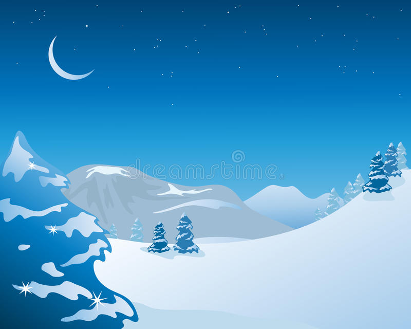 χειμώνας τοπίου απεικόνιση αποθεμάτων