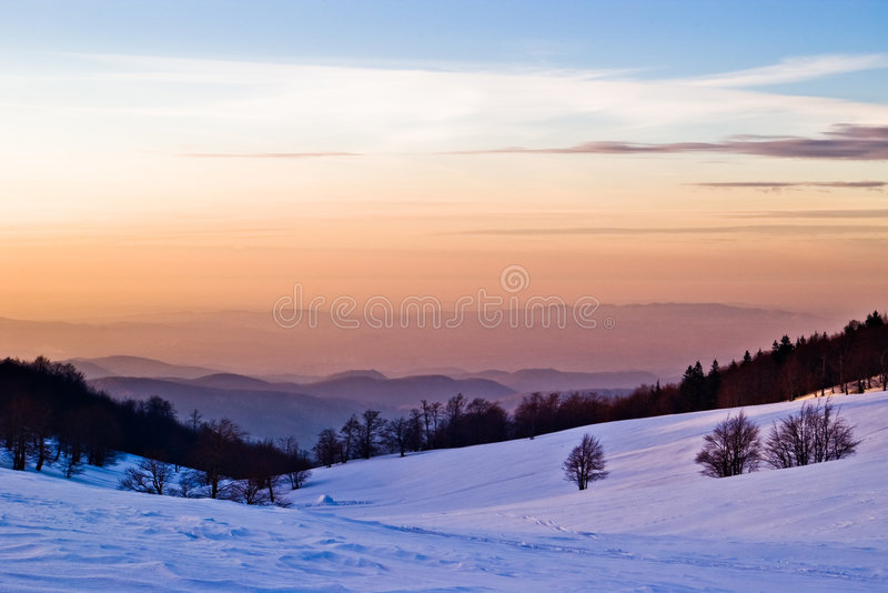 χειμώνας τοπίου στοκ φωτογραφία