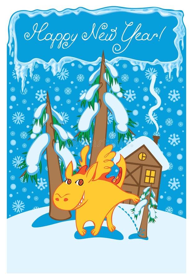 χειμώνας τοπίων δράκων ελεύθερη απεικόνιση δικαιώματος