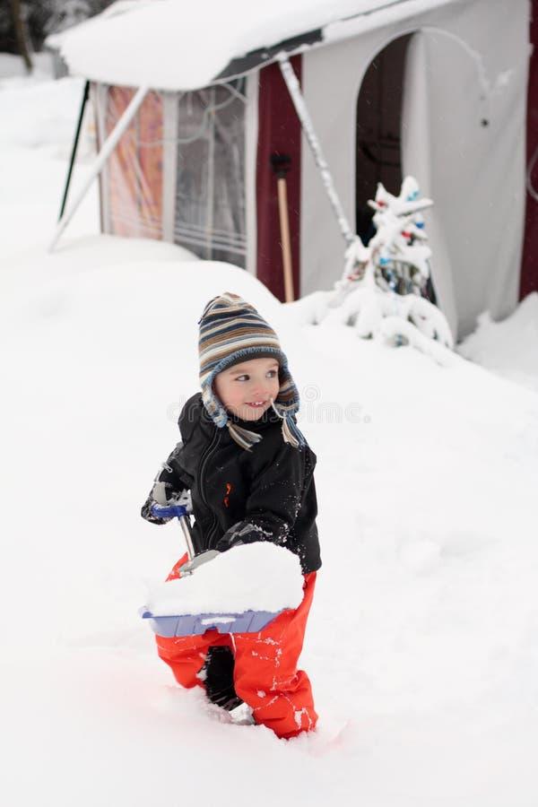 χειμώνας τροχόσπιτων στοκ εικόνες
