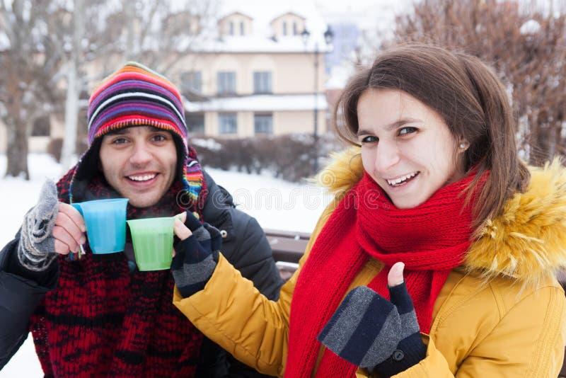 χειμώνας τσαγιού κατανάλ&om στοκ εικόνες με δικαίωμα ελεύθερης χρήσης