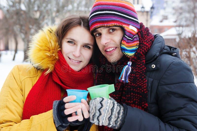 χειμώνας τσαγιού κατανάλ&om στοκ εικόνα με δικαίωμα ελεύθερης χρήσης