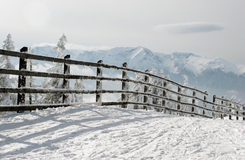 χειμώνας φραγών στοκ φωτογραφία