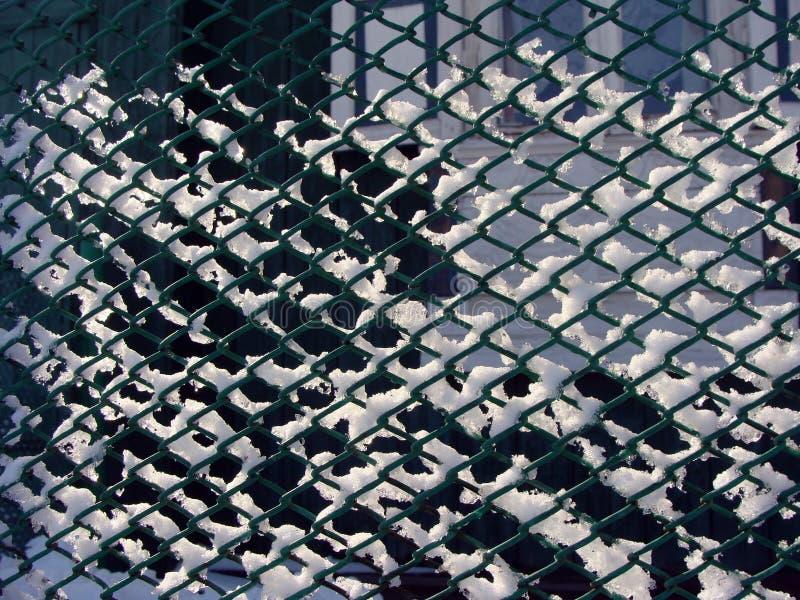 Χειμώνας φρακτών πλέγματος στοκ φωτογραφίες με δικαίωμα ελεύθερης χρήσης