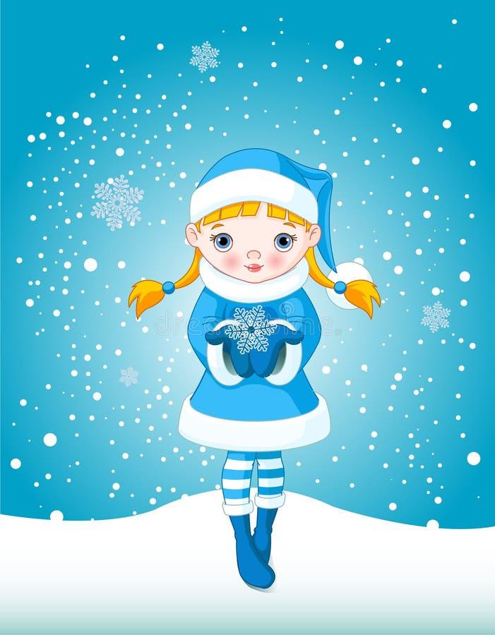 χειμώνας χιονιού κοριτσ&iota ελεύθερη απεικόνιση δικαιώματος