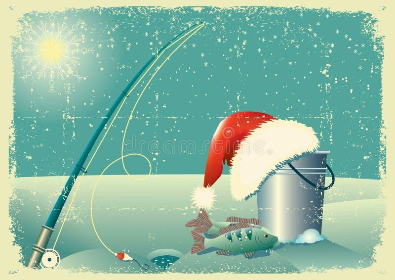 χειμώνας χιονιού τοπίων α&lambd διανυσματική απεικόνιση