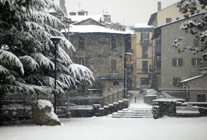 χειμώνας χιονοπτώσεων σκ στοκ εικόνες με δικαίωμα ελεύθερης χρήσης
