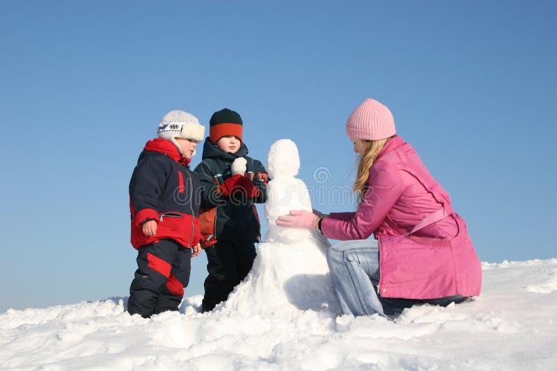 χειμώνας 2 παιχνιδιού στοκ εικόνες