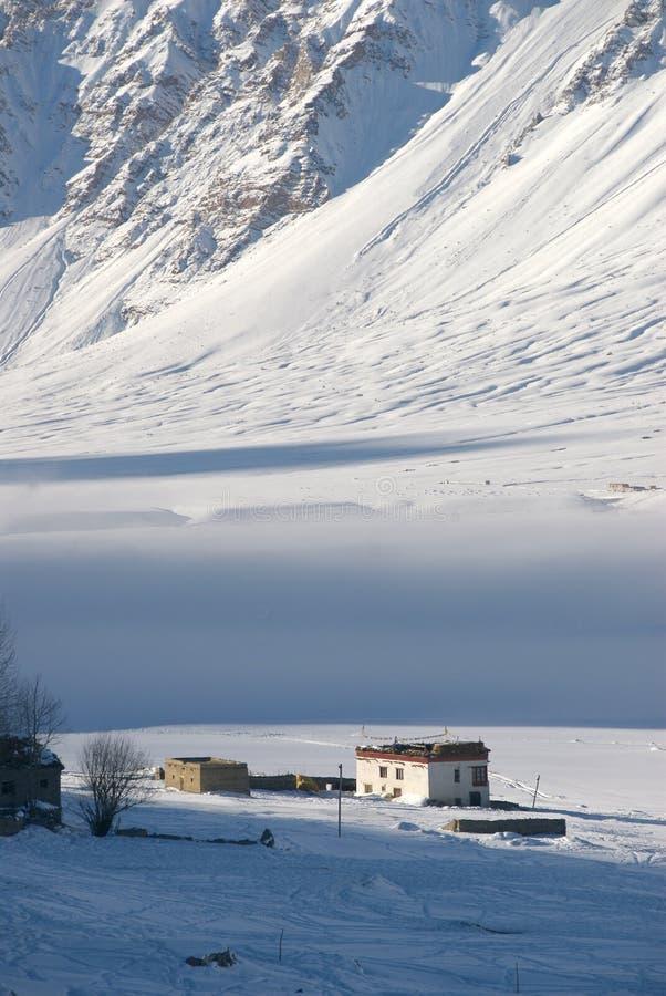 χειμώνας 4 κοιλάδων zanskar στοκ εικόνες