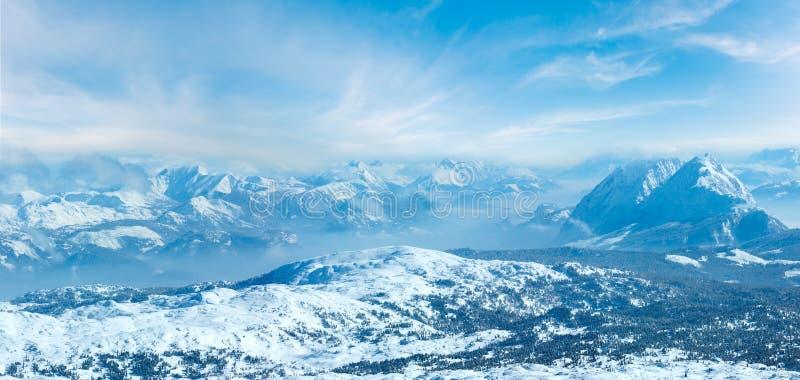 Χειμώνας Dachstein ορεινό πανόραμα στοκ φωτογραφίες με δικαίωμα ελεύθερης χρήσης