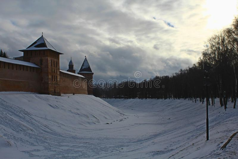 Χειμώνας, Novgorod Velikiy στοκ εικόνα με δικαίωμα ελεύθερης χρήσης
