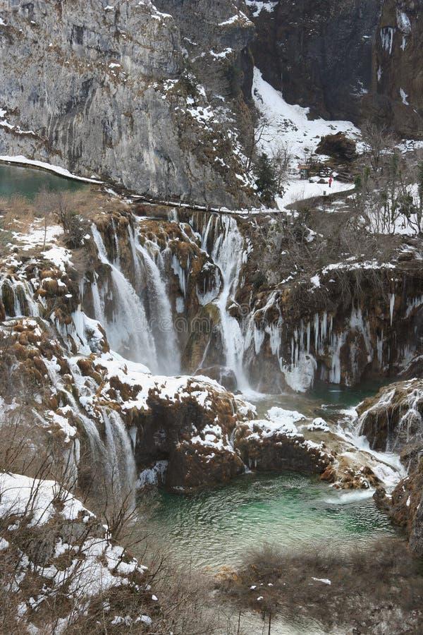 χειμώνας plitvice στοκ φωτογραφία
