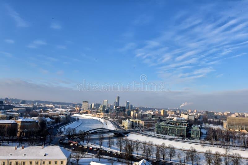 χειμώνας vilnius στοκ φωτογραφία
