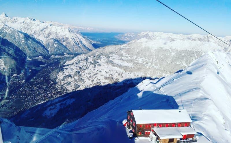 Χειμώνας Vorarlberg Hochjoch/Montafon στοκ φωτογραφία με δικαίωμα ελεύθερης χρήσης
