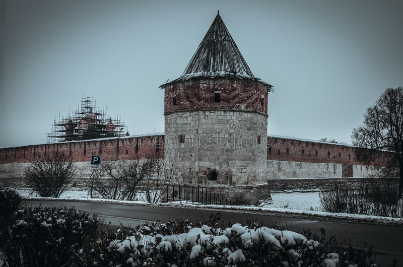 Χειμώνας Zaraysk Κρεμλίνο στοκ φωτογραφία
