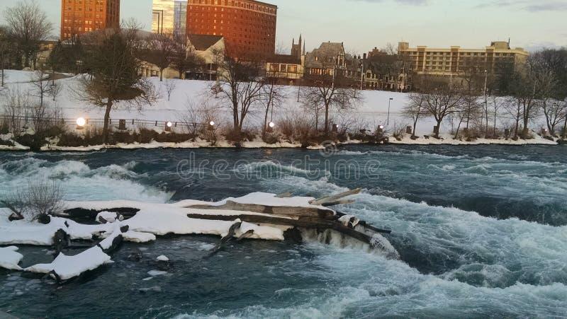 Χειμώνες της πτώσης Niagara στοκ φωτογραφία
