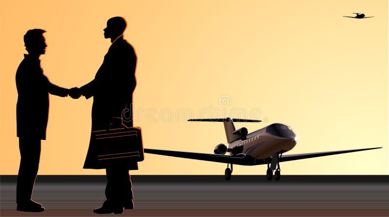 χειραψία αεροδρομίων ελεύθερη απεικόνιση δικαιώματος