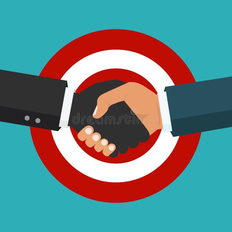 Χειραψία, επιχειρησιακή συνεργασία Σύμβολο της διαπραγμάτευσης επιτυχίας ελεύθερη απεικόνιση δικαιώματος
