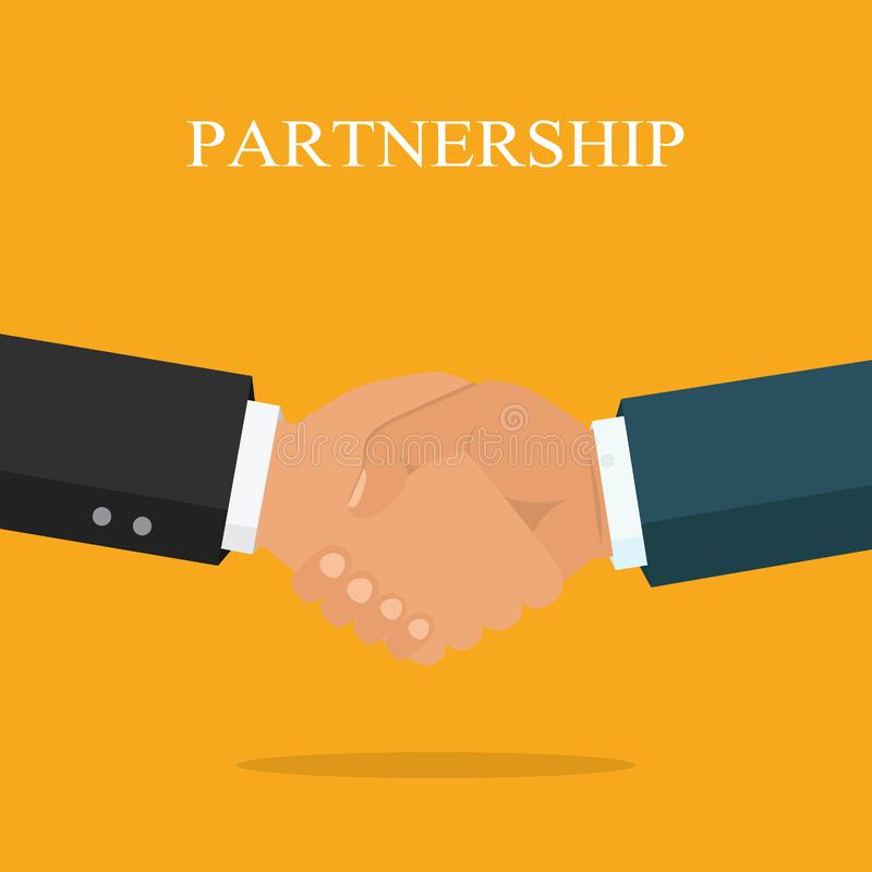 Χειραψία, επιχειρησιακή συνεργασία Σύμβολο της διαπραγμάτευσης επιτυχίας, ευτυχές β ελεύθερη απεικόνιση δικαιώματος