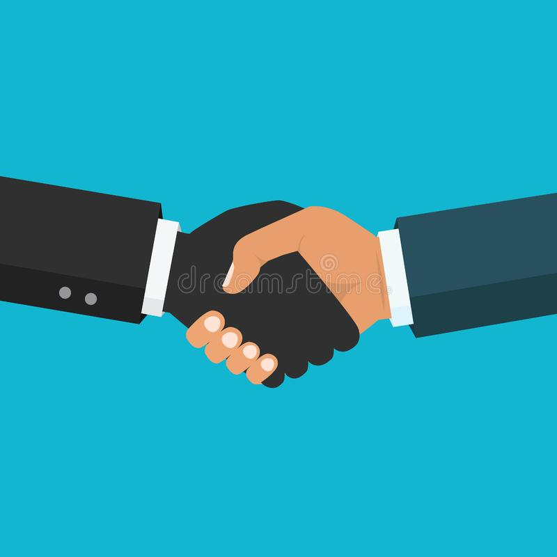Χειραψία, επιχειρησιακή συνεργασία Σύμβολο της διαπραγμάτευσης επιτυχίας απεικόνιση αποθεμάτων