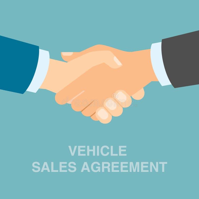Χειραψία συμφωνίας πωλήσεων οχημάτων ελεύθερη απεικόνιση δικαιώματος