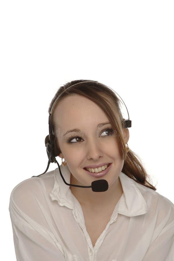 Χειριστής 2 εξυπηρετήσεων πελατών στοκ φωτογραφία με δικαίωμα ελεύθερης χρήσης