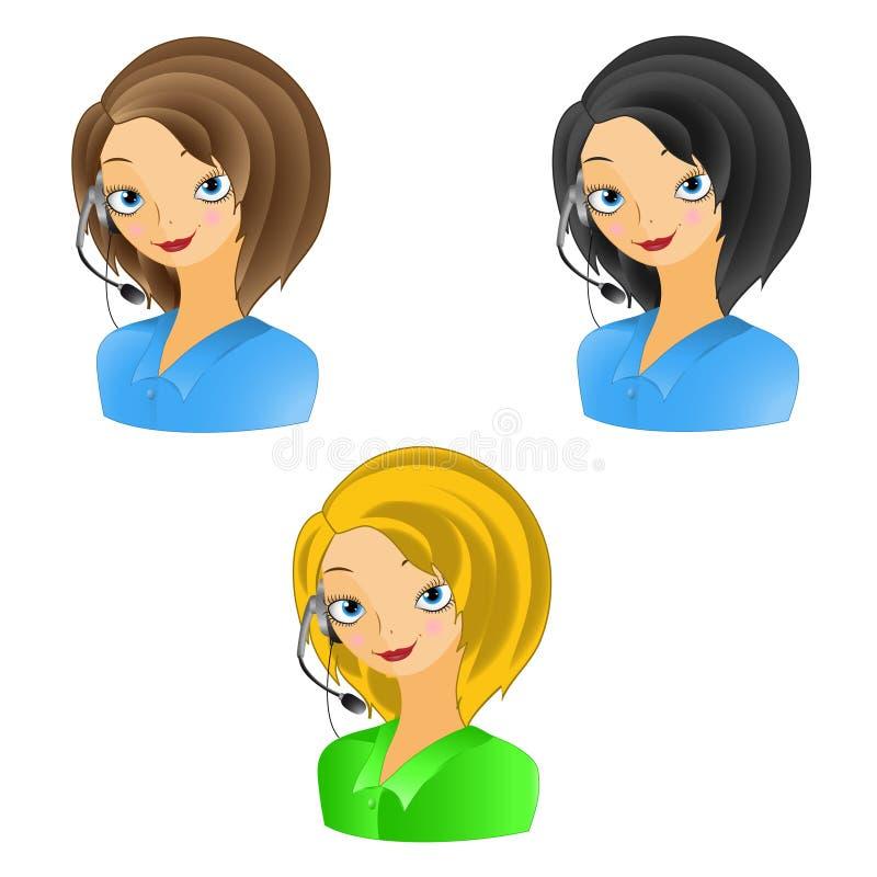 Χειριστής κοριτσιών διανυσματική απεικόνιση