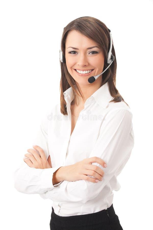 Χειριστής υποστήριξης πελατών στοκ φωτογραφία με δικαίωμα ελεύθερης χρήσης