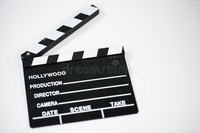 Χειροκρότημα ταινιών στο άσπρο υπόβαθρο στοκ εικόνα με δικαίωμα ελεύθερης χρήσης