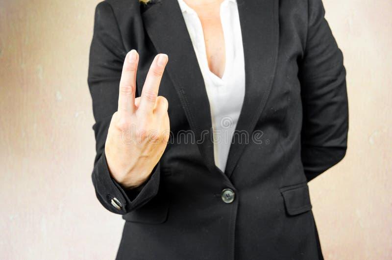 Χειρονομία νίκης στοκ φωτογραφίες με δικαίωμα ελεύθερης χρήσης