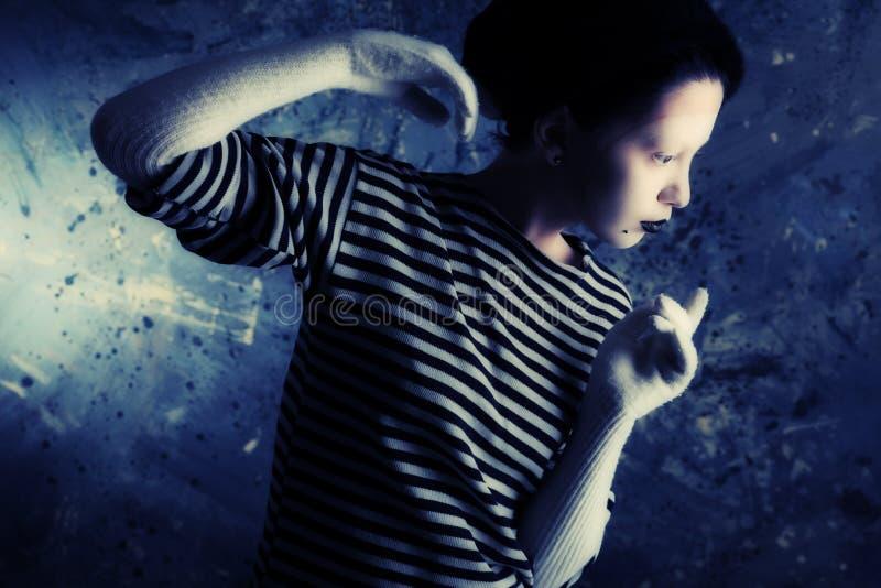 χειρονομία mime στοκ φωτογραφία με δικαίωμα ελεύθερης χρήσης