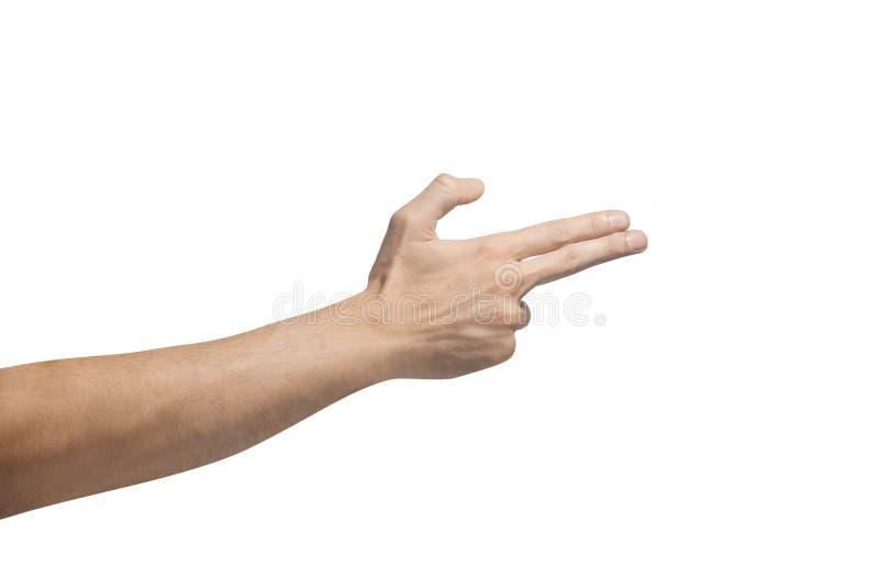 Χειρονομίες ενός χεριού στοκ φωτογραφία με δικαίωμα ελεύθερης χρήσης