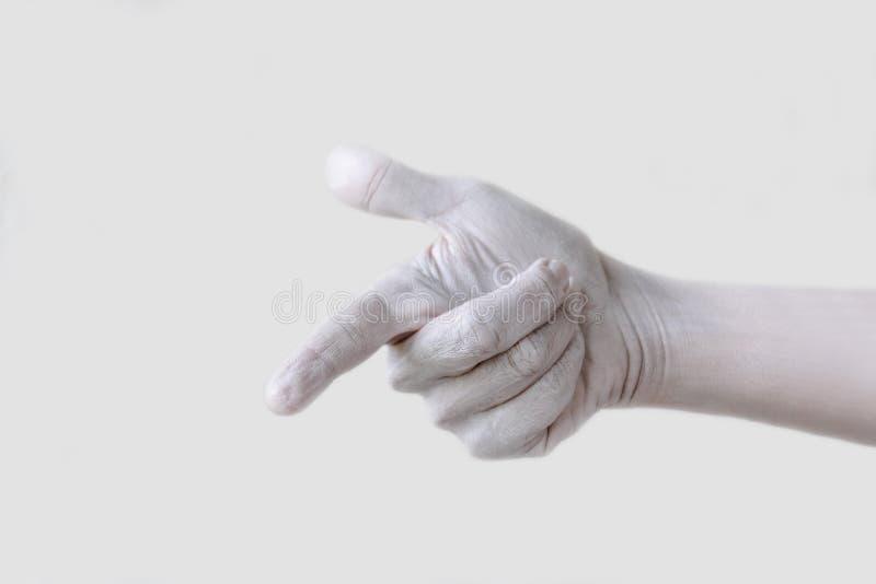 Χειρονομίες, θέσεις και εκφράσεις με τα θηλυκά χέρια και τα δάχτυλα στοκ εικόνες