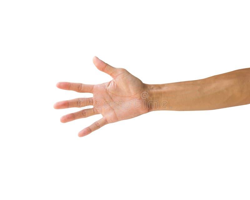Χειρονομίες χεριών πορειών ψαλιδίσματος που απομονώνονται στο άσπρο υπόβαθρο Χέρι μ στοκ εικόνες με δικαίωμα ελεύθερης χρήσης