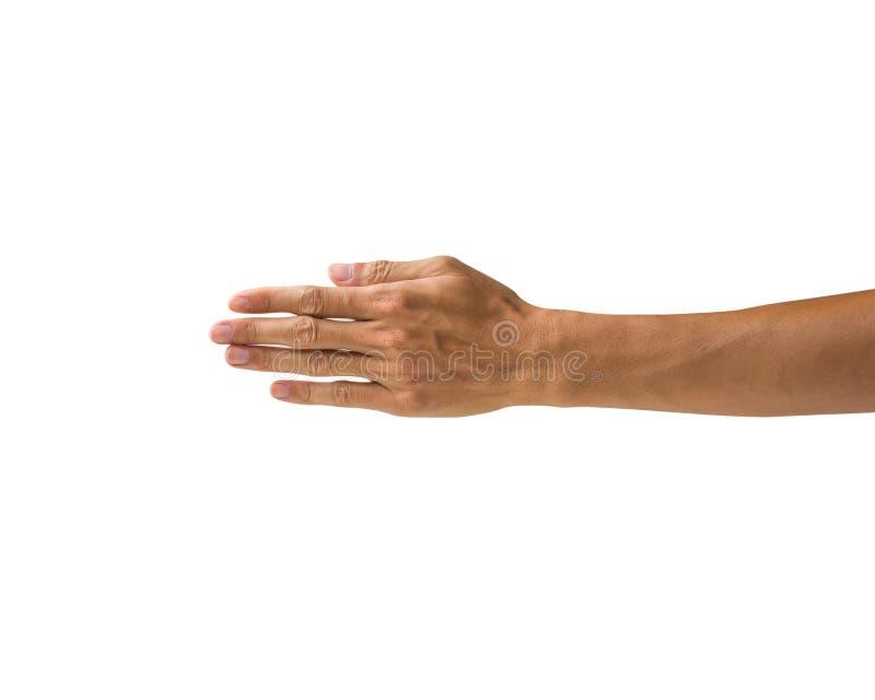 Χειρονομίες χεριών πορειών ψαλιδίσματος που απομονώνονται στο άσπρο υπόβαθρο Χέρι μ στοκ εικόνα