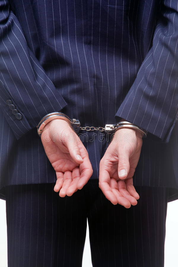 χειροπέδες επιχειρηματ& στοκ φωτογραφία με δικαίωμα ελεύθερης χρήσης